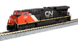 Kato N 176-8938 GE ES44AC Canadian National 'Website' Logo CN #2898
