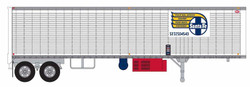 Trainworx HO 80225-02 40' Corrugated Reefer Trailer Santa Fe SFTZ #504572