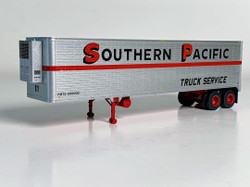 Trainworx HO 80229-01 40' Corrugated Reefer Trailer Southern Pacific 'Truck Service' PMTZ #550002