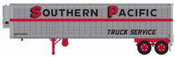 Trainworx HO 80229-02 40' Corrugated Reefer Trailer Southern Pacific 'Truck Service' PMTZ #550009