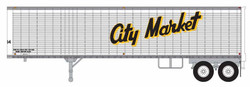 Trainworx HO 80257-02 40' Corrugated Reefer Trailer City Market #64