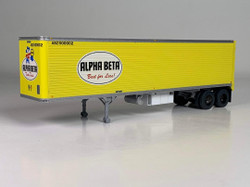 Trainworx HO 80258-02 40' Corrugated Reefer Trailer Alpha Beta 'Best For Less' ABZ #500016