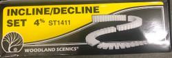 Woodland Scenics ST1411 4% Incline/Decline Set
