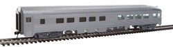 Walthers Mainline HO 910-30350 85' Budd Observation Ready to Run Painted Silver Unlettered
