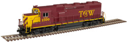 Atlas Master N 40004804 Gold Series EMD GP39-2 Phase 2 DCC/ESU LokSound Twin Cities & Western - TC&W #2300