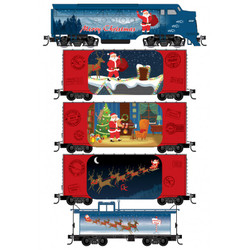 Micro Trains Line 993 21 340 Santa's Off-The-Rail Express Train Set
