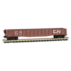 Micro Trains Line 046 00 470 50' Drop End Fishbelly Side Gondola Canadian National CN #143722