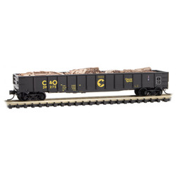 Micro Trains Line 105 00 330 50' Steel Side 14 Panel Fixed End Fishbelly Side Gondola Chessie System B&O 39275