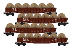Micro Trains Line 993 00 168 - 50' Drop End Fishbelly Side Gondola - Pennsylvania -  PRR - 4 Car Runner Pack
