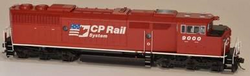 Bowser Executive Line HO 24353 with DCC/ESU LokSound GMD SD40-2f Diesel Locomotive Canadian Pacific CP Rail System 'CP Dual Flag' Scheme CP #9000
