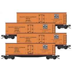 Micro Trains Line 993 00 171 36' Wood Sheathed Ice Reefer Western Pacific PFE - 4 pack