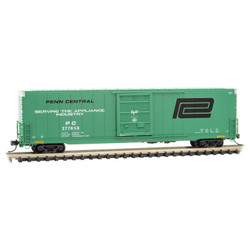 Micro Trains Line 104 00 060 60' Excess Height Rivet Side Single Door Boxcar Penn Central PC #277058