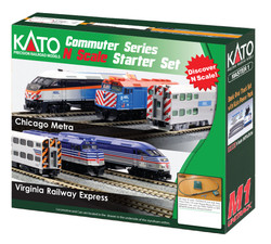 Kato N 106-0037 Chicago Metra 'New Paint' Passenger Starter Set