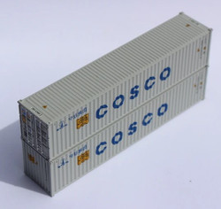 Jacksonville Terminal Company N 405312 40' Standard Height Corrugated Container COSCO 2-Pack