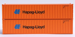 Jacksonville Terminal Company N 405325 40' Standard Height Corrugated Container HAPAG LLOYD 'Small, light blue logo' 2-Pack
