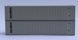 Jacksonville Terminal Company N 405501 40' Standard Height Corrugated Container SEALAND 2-Pack