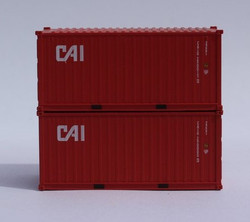 Jacksonville Terminal Company N 205330 20' Standard Height Container CAI 2-Pack