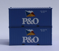 Jacksonville Terminal Company N 205329 20' Standard Height Container P&O 'Flag Scheme' 2-Pack