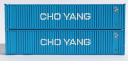 Jacksonville Terminal Company N 405553 40' Standard Height Square Corrugated Container CHO YANG 2-Pack