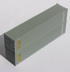 Jacksonville Terminal Company N 405551 40' Standard Height Square Corrugated Container CLOU 2-Pack