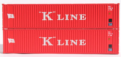 Jacksonville Terminal Company N 405571 40' Standard Height Square Corrugated Container K LINE 2-Pack