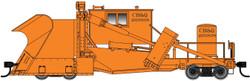 WalthersProto HO 920-110119 Jordan Spreader Chicago Burlington & Quincy 'MOW Orange' CB&Q #203838