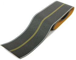 Walthers SceneMaster HO 949-1252 Flexible Self-Adhesive Paved Roadway - Vintage/Modern No Passing Zone