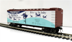 MTH HO 80-90025E R40-2 Wood Sided Reefer Gerber Products GSVX #1009