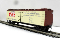 MTH HO 80-90028E R40-2 Wood Sided Reefer OTOE Food Products OFPX #4007