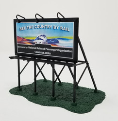 Athearn HO 7630 Modern Billboard 'See The Country By Rail' National Railroad Passenger Organization