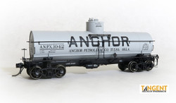 Tangent Scale Models HO 19123-06 General American 1917-design 8000 Gallon Insulated Tank Car Anchor Petroleum Company Tulsa OK 'Anchor Refining1948+' ANPX #1047