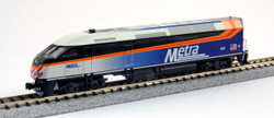 Kato N 106-8701 N MP36PH Chicago METRA Gallery Bi-Level Commuter Train 'Starter Series' 4-Car Set