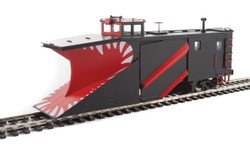 WalthersProto HO 920-110029 Russell Snowplow Black, Red White Teeth Unlettered