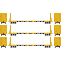Athearn RTR HO ATH90556 60' Bulkhead Flat Trailer Train Early 3-Pack TTPX #90299, 90511, 90549