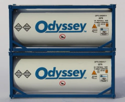 Jacksonville Terminal Company N 205216 20' Standard Tank containers ODYSSEY 2 pack