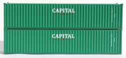 Jacksonville Terminal Company N 405335 40' Standard Height 8'6 Corrugated Side Containers CAPITAL CLHU - 2-Pack