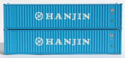 Jacksonville Terminal Company N 405520 40' Standard Height 8'6 Corrugated Side Containers HANJIN 2-Pack