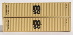 Jacksonville Terminal Company N 405336 40' Standard Height 8'6 Corrugated Side Containers MSC MEDU Beige 2-Pack