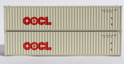 Jacksonville Terminal Company N 405304 40' Standard Height 8'6 Corrugated Side Containers OOCL Large Logo 2-Pack