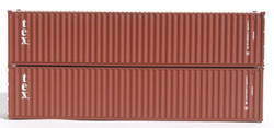 Jacksonville Terminal Company N 405327 40' Standard Height 8'6 Corrugated Side Containers TEX 2-Pack