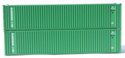 Jacksonville Terminal Company N 405554 40' Standard Height 8'6 Corrugated Side Containers Square Corrugated EVERGREEN EMCU Square Corrugated 2-Pack