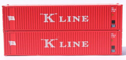 Jacksonville Terminal Company N 405558 40' Standard Height 8'6 Corrugated Side Containers Square Corrugated K LINE EKLU Early 2-Pack