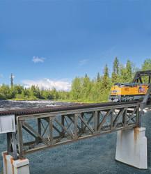 Walthers Cornerstone HO 933-4520 Pratt 109' Single Track Deck Truss Railroad Bridge - Kit