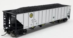 Trainworx N 2418-55 100 Ton Quad Hopper Car Alaska Railroad 'Aluminum Side' ARR #16232