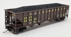 Trainworx N 2424-51 100 Ton Quad Hopper Car CSX 'Re-Stencil' CSXT #343084