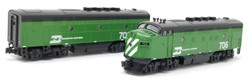 Kato N 106-0301-LS EMD F3A/B Diesel Locomotive Set with DCC/ESU LokSound Burlington Northern BN #706 & #703