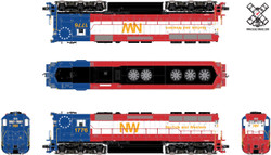 ScaleTrains Rivet Counter HO SXT32438 DCC Ready High Hood EMD SD45 Norfolk and Western 'Bicentennial' N&W #1776
