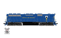ScaleTrains Rivet Counter HO SXT32445 with DCC/ESU LokSound High Hood EMD SD45 Norfolk and Western N&W #1810
