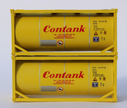 Jacksonville Terminal Company N 205243 20' Standard Tank Container with Full Wrap Around Walkway CONTANK 2-Pack