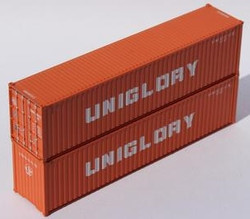 Jacksonville Terminal Company N 405159 40' High Cube Corrugated Side Containers UNIGLORY 2 pack